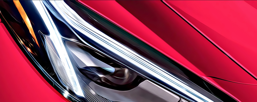 Corvette headlight animated style