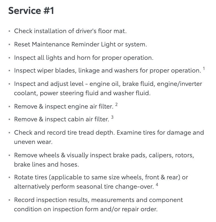 Service Type #1 Toyota