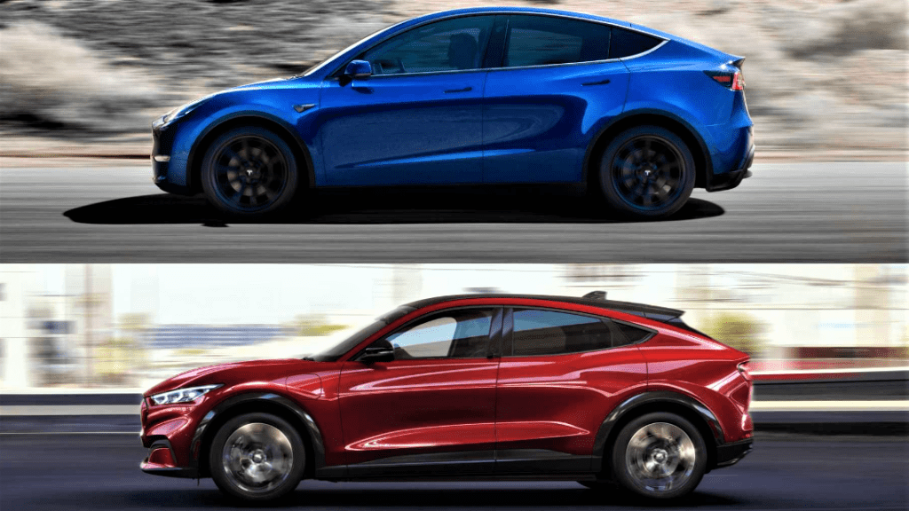 Read more about the article Tesla Model Y vs. Ford Mach-E −