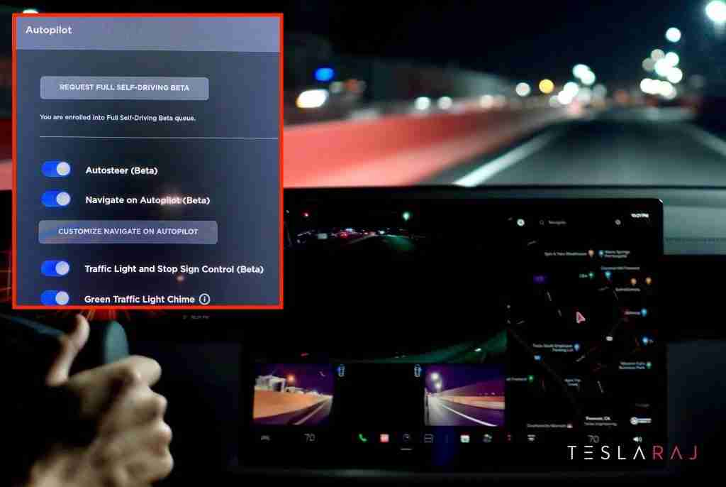 """Read more about the article Tesla """"Request FSD Beta"""" button formally gets released"""